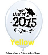 "11"" Class of 2015 Grad Stars Yellow (50 ct.)"