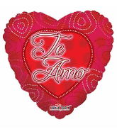 "18"" Dotted Hearts Te Amo Balloon"