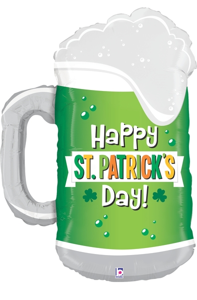 "34"" Foil Shape St. Patrick's Day Green Beer"