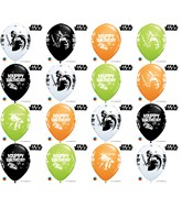 "11"" Special Assorted 25 Count Star Wars Birthday Assorted"