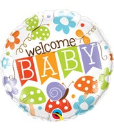 "18"" Packaged Welcome Baby Banner Garden"