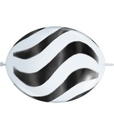 "12"" Quicklink White 50 Count Wavy Stripes/Black"