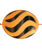 "12"" Quicklink Orange 50 Count Wavy Stripes/Black"