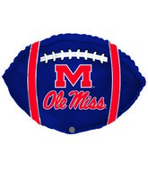 "21"" University Mississippi Collegiate Football"