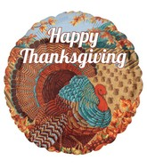 "18"" Happy Thanksgiving Turkey Balloon"