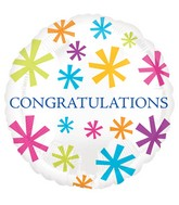 "18"" Congratulations Burst Balloon"