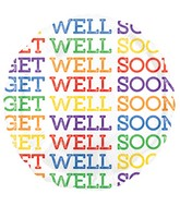 "18"" Get Well Soon Bright Font Balloon"