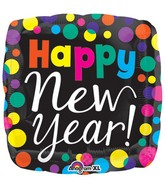 "21"" Happy New Years Dots Balloon"