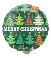 "4"" Airfill Only Decorative Christmas Trees Balloon"