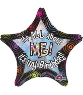 "28"" It's All About Me Birthday Balloon"