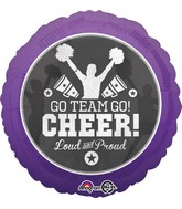 "18"" Cheer Go Team Go Balloon"
