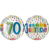 "16"" Happy 70th Birthday Rainbow Balloon"