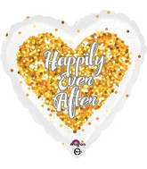 "18"" Confetti Wedding Heart Balloon"