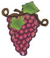 "31"" Foil Shape Linky Grapes - Red"