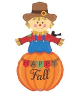 5&#39 Foil Shape Special Delivery Happy Fall Scarecrow