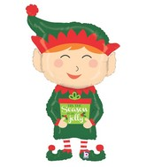 "43"" Foil Shape Holiday Elf"