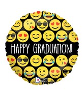 "18"" MAX Float Balloon Emoji Graduation"