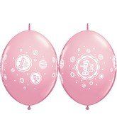 "12"" Quicklink Pink 50 Count Baby Girl Dots"