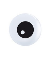 "11"" White 50 Count Friendly Eyeball Topprint"