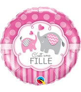 "18"" Packaged C&#39Est Une Fille Elephants"