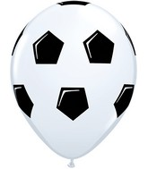 "11"" White 50 Count Soccer Ball/Football"