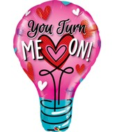"40"" You Turn Me On! Jumbo Lightbulb Balloon"