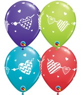 "11"" Assorted Banner Hearts"