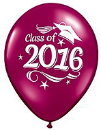 "11"" Class of 2016 Grad Cap Burgundy (50 Ct)"