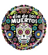 "21"" Mighty Bright® Balloon Mighty Dia de los Muertos"
