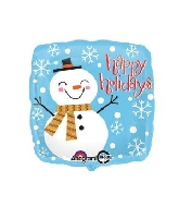 "18"" Happy Snowman Balloon"