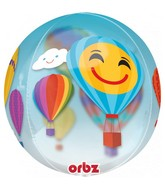 "16"" Orbz Jumbo Hot Air Balloons Foil Balloon"