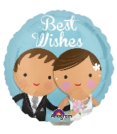 "4"" Airfill Only Best Wishes Wedding Couple Balloon"