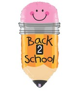 "32"" Foil Shape Back 2 School Pencil"