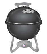 "32"" Foil Shape Packaged BBQ Grill - Black"