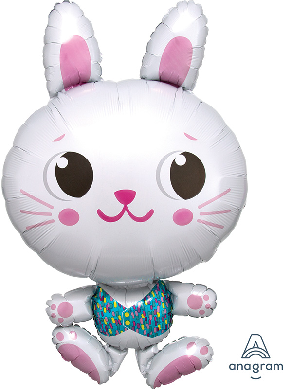 "34"" Funny Bunny SuperShape Foil Balloon"
