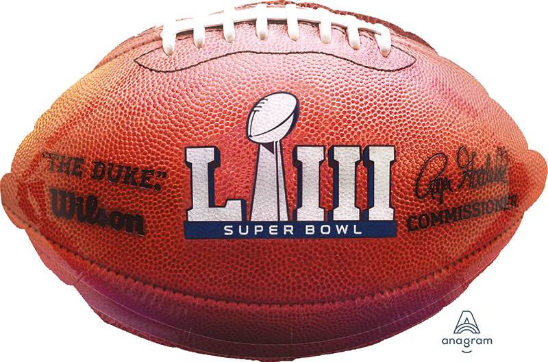 "17"" Super Bowl 53 Junior Shape Foil Balloon"