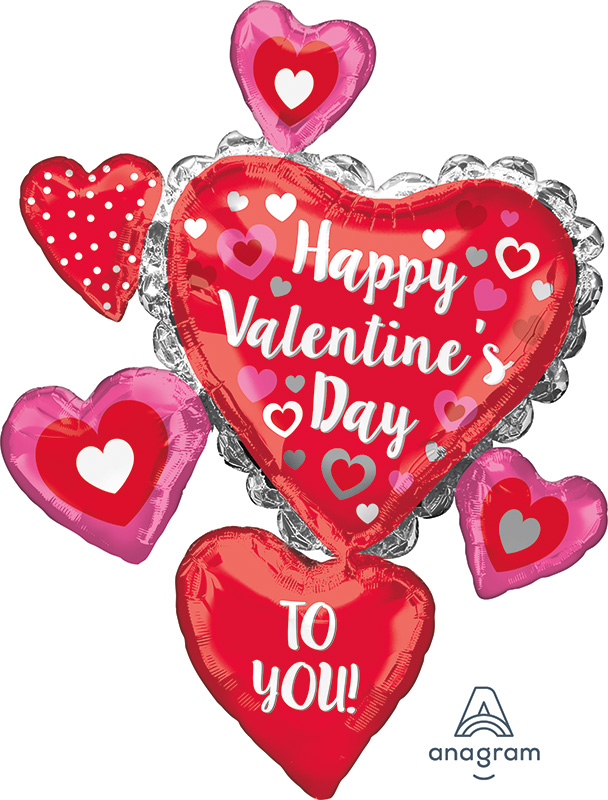 "34"" Happy Valentine's Day to You Foil Balloon"