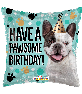 "18"" Have A Pawsome Birthday! Square Foil Balloon"