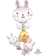 "61"" Multi Balloon Bunny Stacker Balloon"