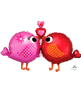 "39"" Love Birds SuperShape Foil Balloon"