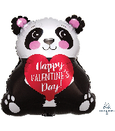 "16"" Happy Valentine's Day Panda Junior Shape Foil Balloon"