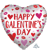 "18"" Satin Infused Galentine's Day Foil Balloon"