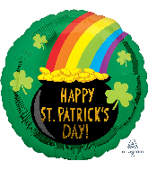 "18"" St. Patrick's Pot of Gold Foil Balloon"