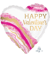 "28"" Valentine's Day Watercolor Jumbo Shape Foil Balloon"