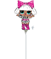 Airfill Only LOL Surprise Diva Mini Shape Foil Balloon