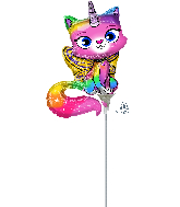 Airfill Only Rainbow Butterfly Unicorn Kitty Foil Balloon