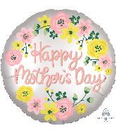 "28"" Satin Infused Happy Mother's Day Foil Balloon"