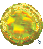 "18"" Iridescent Yellow Circle Foil Balloon"