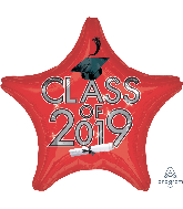 "18"" Class of 2019 - Red Foil Balloon"
