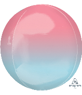 "16"" Foil Balloon Ombre Orbz Pink and Blue"